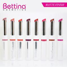 Si buscas labiales mate, ¡los #Bettina Intact Color #Lipstick te encantarán! Y ahora están disponibles en 8 colores... #mattelips