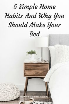 You've heard it before — getting into the habit of making your bed as soon as you wake up will make you more productive during the rest of the day. And I've said it before, your environment, aka your home, has a direct effect on your mood and well-being.  Which is why I'm so passionate about interior design and decorating, because it's so much more than just how it looks – it's about how it makes you feel, even if it's subconscious.