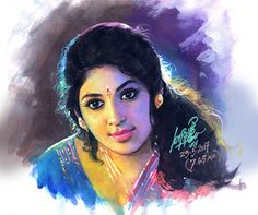 Realistic Tamil Woman Indian Painting By Ilayaraja 3 - Full Image Indian Women Painting, Indian Art Paintings, Oil Paintings, Indian Folk Art, Indian Artist, Indian Traditional Paintings, Indian Art Gallery, Popular Paintings, Digital Art Fantasy