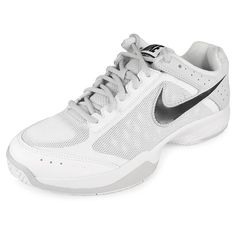 Women`s Breathe Court Tennis Shoes Pure Platinum/Strata Grey...get the perfect sock with this shoe and there will be not stopping you!  covertthreads.com