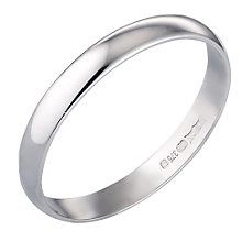 9ct White Gold 3mm Wedding Ring - Product number 3398595