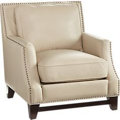 picture of Sofia Vergara Bal Harbour Beige Leather Chair  from Chairs Furniture