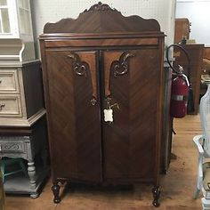 Merveilleux Antique Armoire Project Piece Need TLC Chest Of Drawers Tall Storage Ornate  Chic
