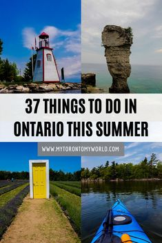 Ontario is absolutely stunning in the summer. With national and provincial parks, beaches, small towns and festivals galore there are so many things to do in Ontario in the summer. Cool Places To Visit, Places To Travel, Travel Destinations, Places To Go, Canada Travel, Travel Usa, Cheltenham Badlands, North America Destinations, Ontario Travel