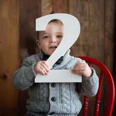 2 Sign Toddler Photo Prop for 2nd Birthday Two Years