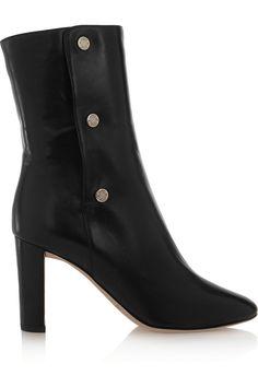 Jimmy Choo| Dayno black leather ankle boots @ net-a-porter.com