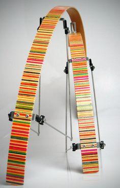 recycled skateboard bicycle fenders. HOT!