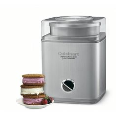 What's better than a quart of luscious homemade ice cream, sorbet, or frozen yogurt? Two quarts!This fully automatic Cuisinart Pure Indulgence automatic ice cream, frozen yogurt, and sorbet maker makes 2 quarts of your favorite frozen desse Ice Cream Maker Reviews, Best Ice Cream Maker, Make Ice Cream, Homemade Ice Cream, Homemade Food, Whipped Cream, Sorbet Ice Cream, Yogurt Ice Cream, Frozen Desserts