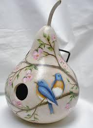 Resultado de imagen para birdhouse de calabazas
