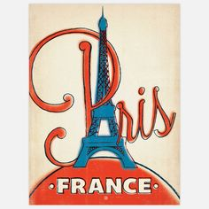 France: Paris, - Our latest series of classic travel poster art is called the World Travel Poster Collection. We were inspired by vintage travel prints from the Golden Age of Poster Design (a glorious period spanning the to the Paris Poster, Paris Wall Art, Paris Art, Ville France, Paris Eiffel Tower, I Love Paris, Vintage Travel Posters, Retro Posters, Poster Vintage