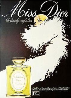 Vintage ad, my nickname from uncle Bernie is miss Dior <3