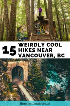 15 Unusual Hikes Near Vancouver, BC, Canada. Off the beaten path hikes near Vancouver. Epic hikes near Vancouver for great photos. Hidden hiking trails in Vancouver, BC. Get the correct camping equipment for your camping needs Places To Travel, Places To See, Travel Destinations, Travel Things, Alberta Canada, Vancouver Hiking, Vancouver Island, Vancouver Bc Canada, Vancouver Washington