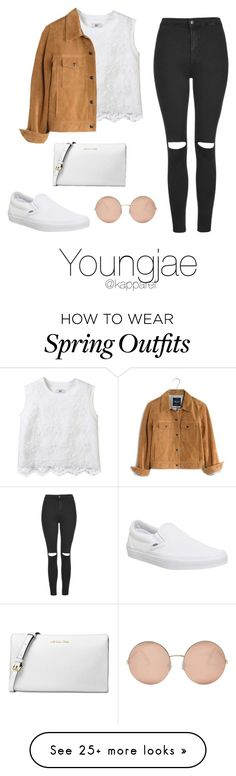 """Spring Outfit: Youngjae"" by kapparel on Polyvore featuring Vans, Madewell, Topshop, Michael Kors and Victoria Beckham"