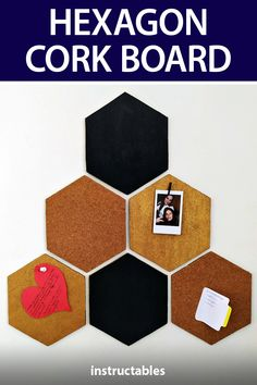 eliscety crafted this hexagon cork board with cardboard pieces. #Instructables #upcycle #reuse #home #decor Reuse, Upcycle, Cork, Projects, How To Make, Crafts, Diy, Log Projects, Blue Prints