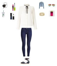 """""""Crazy in love"""" by sarahballerina01 ❤ liked on Polyvore featuring Lipsy, Levi's, Paige Denim, Pierre Hardy, Oliver Peoples, Sara Barner, Miss Selfridge, Giorgio Armani and Starbucks"""