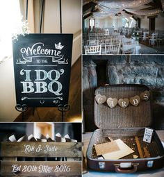 Decor for a boho inspired barbeque wedding. Photography by Kerry Woods.
