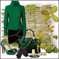 """Dazzle Me Green"" by jacque-reid on Polyvore"