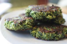 Spinach Fritters... made using cornmeal, Yum!