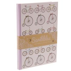 Retro Cycling Design Lined A5 Notebook