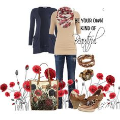 Beautiful Poppies, created by jenniemitchell.polyvore.com