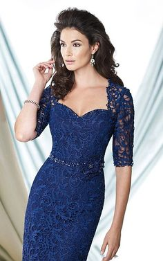 Alternate view of the Montage 114919 Lace Sleeve Mother of the Bride Dress $517.99
