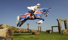 Rising star Laura Collett, 22, painted her 14-year-old former racehorse, Natterjack, in Britain's colors. Many fun possibilities using liquid chalk! http://www.chicksaddlery.com/page/CDS/PROD/PP7057