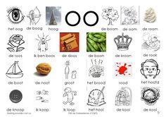 Klank: oo Learn Dutch, Dutch Language, Kids Writing, Phonics, Spelling, Preschool, Learning, Mini, School Stuff