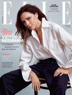 British Elle Magazine enlists Victoria Beckham to star in the cover story of their May 2017 edition lensed by fashion photographer Kerry Hallihan. Fashion Magazine Cover, Fashion Cover, Magazine Covers, Fashion Photo, Women's Fashion, Victoria And David, Victoria Beckham Style, Victoria Beckham Vogue, Actresses