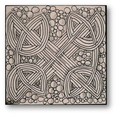 Many more Celtic knot based tangles at the site --Zentangle Challenge #78
