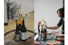 beer bottle centerpieces weddings | Good wedding ideas / beer bottle centerpieces