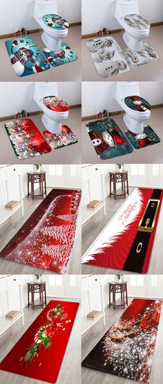 Unique Gifts for Christmas- Holiday Gift Ideas PinWire: Colorful christmas bath rugs Images amazing christma. Christmas Rugs, Christmas Bathroom Decor, Cheap Christmas, All Things Christmas, Winter Christmas, Holiday Fun, Christmas Crafts, Holiday Decor, Christmas Ideas