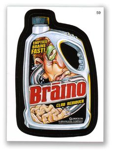 Wacky Packages Topps 6th Series 2007 Sticker: Braino - #59