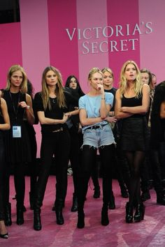 Backstage at the Victoria's Secret Fashion Show 2013/14
