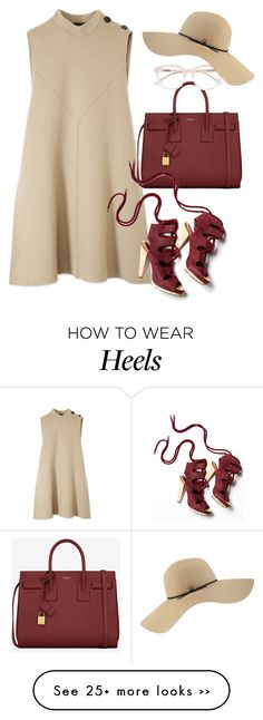 """Derek Lam Mock Neck Flare Dress"" by thestyleartisan on Polyvore featuring Derek Lam, Yves Saint Laurent and Coal"
