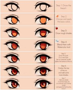 Eyes coloring tutorial by Maruvie art tips procreate Cute green eyes Steps by Maruvie on DeviantArt Digital Art Tutorial, Digital Painting Tutorials, Art Tutorials, Digital Paintings, Drawing Techniques, Drawing Tips, Drawing Sketches, Art Drawings, Drawing Faces
