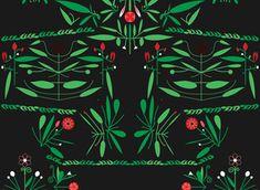 Red Latino by Sanziana Toma - Folk latino pattern with pasional, hot red chromatic. Bold and fresh!