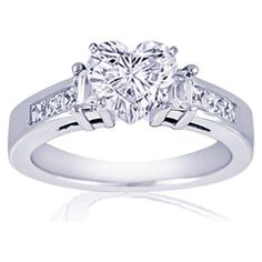 1.20  Heart Shaped Diamond Engagement Ring FLAWLESS