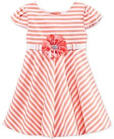 Sweet Heart Rose Baby Girls' Stripe Ottoman Dress