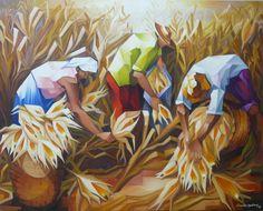 Colheita de milho (80x100)