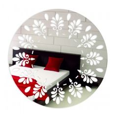 Okrúhle zrkadlá na stenu so vzorom Mirror, Furniture, Home Decor, Decoration Home, Room Decor, Mirrors, Home Furnishings, Home Interior Design, Home Decoration