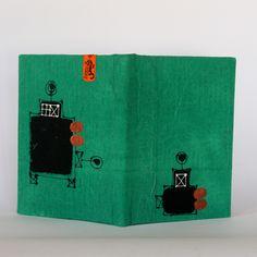 handmade notebook for drawing & text with fabric cover desgin by gheis sabuti دفتر طراحی باجلد پارچه ای منقوش دست ساز.دیزاین قیس ثبوتی https://www.facebook.com/gheisartstudio?ref=hl http://instagram.com/gheis.artstudio/