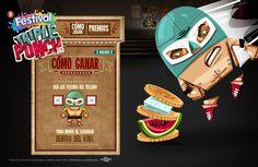 Festival Triple Punch by Marcela Sanchez, via Behance