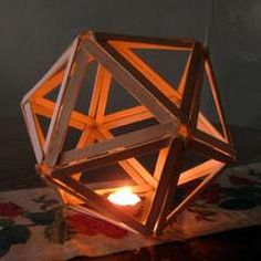 Popsicle Stick Crafts. glue colour tissue paper around and put around battery operated tea light.