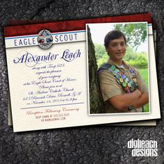 Eagle Scout Court of Honor Invitation: Formal by DigileachDesigns