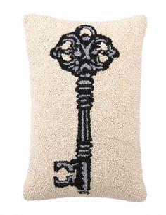 Key Hook Pillow - Make latch hook cool again!
