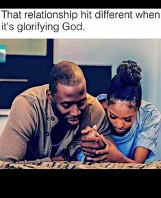 Everything hits different when you glorify God first but to be in a relationship where we pray and trust each other while trusting God ooo weee lol. God is good all the time and all the time God is good. Godly Relationship, Relationship Goals Pictures, Marriage Goals, Black Love Couples, Cute Couples Goals, Black Love Quotes, Christian Relationships, Cute Relationships, Family Goals