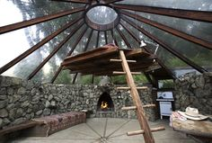 Glass Teepee built by Big Sur architect Mickey Muennig.