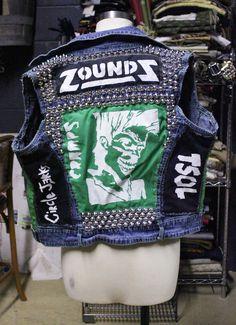 punk vest | Punk Vest Studs & Patches On Sale by HardTeethApparel on Etsy