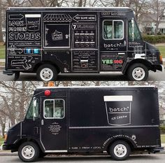 Food Inspiration  Chalkboard Confectionery Branding : Ice Cream Trucks