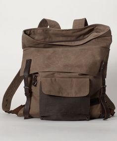 Canvas/leather Backpack. Dope.